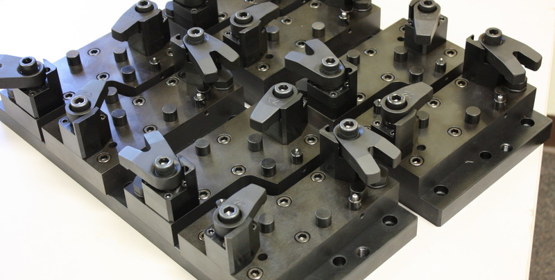Work holding fixture for 2-axis milling operation.
