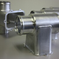 Aluminum duct assembly Welded by NADCAP approved welders.