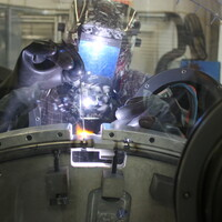 """GTAW approved Welder: 42"""" diameter titanium ring with 24 X-rayed weld joints."""