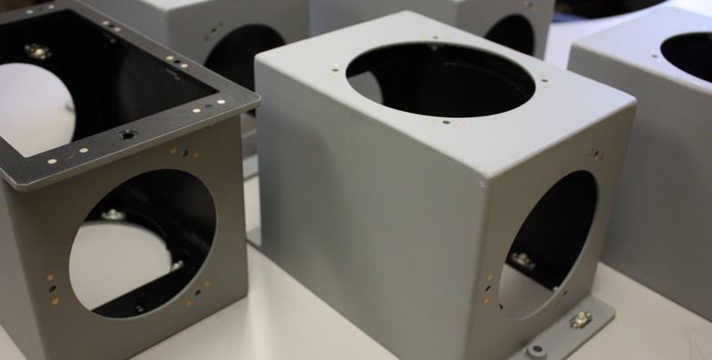 Electronics enclosure welded per NAVSEA S9074-AR-GIB-010/278