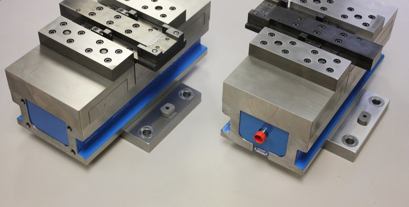 Modified vice for specific part holding.