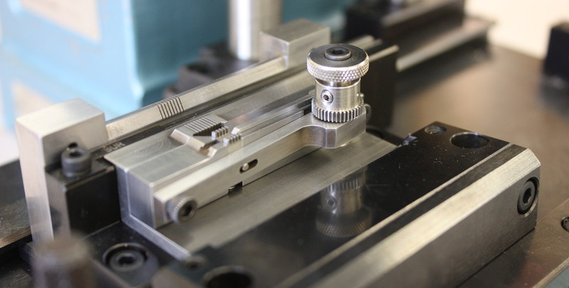 Assembly fixture using high-precision Wire EDM machined components.