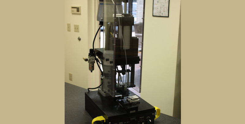 Semi-automatic pin Inserting machine designed, built and programmed by Lynn Welding.