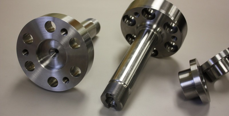 Tight tolerance CNC turning of aerospace components.