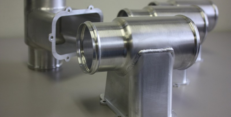 Aluminum duct assembly Precision Welded by NADCAP approved welders.